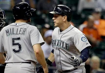 Logan Morrison's tiebreaking two-run pinch-hit homer in the eighth inning lifted the Seattle Mariners to a 7-5 win over the Houston Astros on Tuesday night.