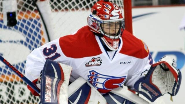 Second-year goaltender Tyson Verhelst started for the Chiefs in goal, stopping 26 of 30 shots faced.