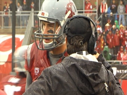 Luke Falk earned Pac-12 Offensive Player of the Week honors after leading the Cougars past Rutgers.