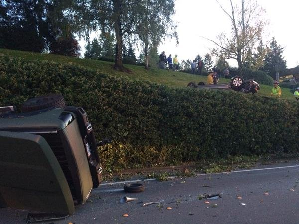 This is a picture of the aftermath of the crash Wednesday night. (Photo: Bellevue Police Dept.)