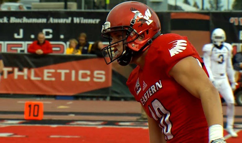 After catching two touchdown passes and even throwing for one earlier in the game, Cooper Kupp scored the only points in the third quarter of EWU's 45-28 win over Idaho State last Saturday.