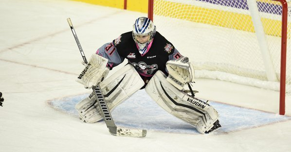 Lasse Petersen was on waivers after allowing 17 goals in 7 appearances with the Calgary Hitmen this season.