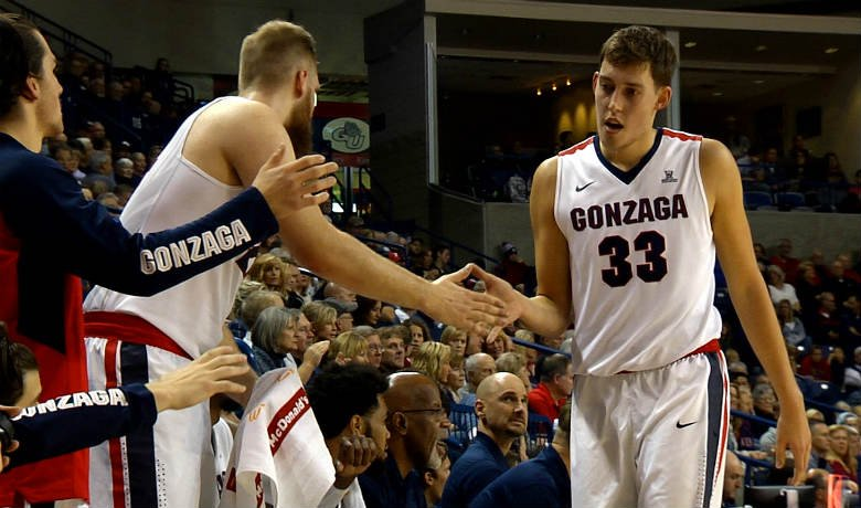 Kyle Wiltjer's 33 points and 14 rebounds led Gonzaga to a 90-58 victory over Eastern Oregon Saturday.