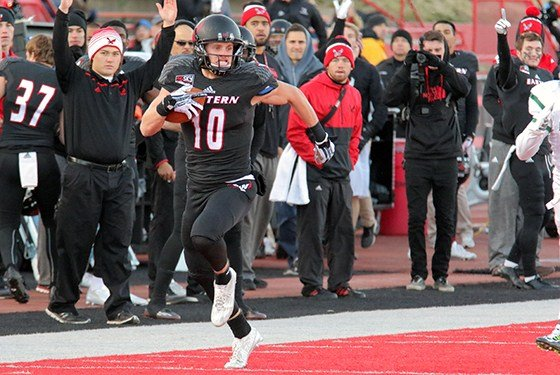 A 78-yard touchdown reception by junior Cooper Kupp in the second quarter was his 113th catch of the season to break the Big Sky Conference record of 112 set by Idaho State's Rodrick Rumble in 2011.