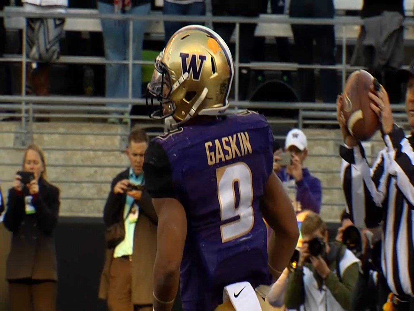 Myles Gaskin finished with a season-high 181 yards and four touchdowns to help Washington beat Southern Mississippi 44-31 on Saturday in the Heart of Dallas Bowl.