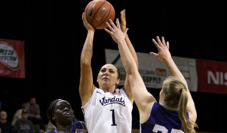 Christina Salvatore finished 5-for-5 from long range, finishing one point shy of her career-high with a season-high 21 points.