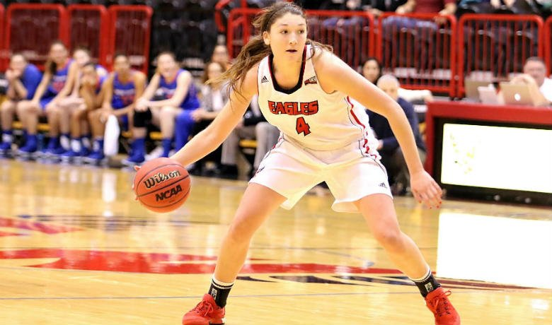 Delaney Hodgins led EWU in scoring with 16 points on 6-of-8 shooting in the win.