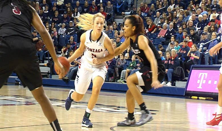 Gonzaga's Georgia Stirton led all scorers with 13 points on 4-of-7 shooting from the field.