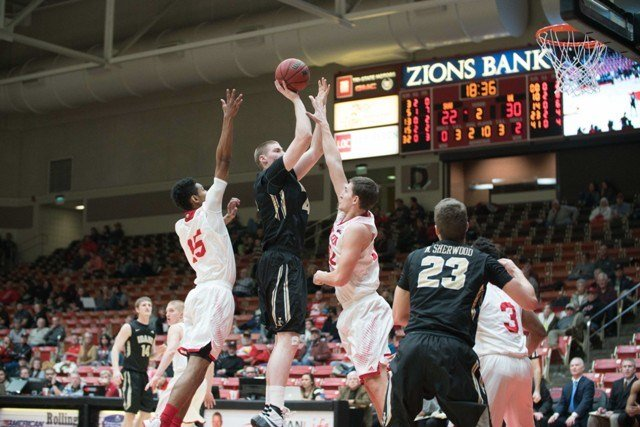 Ty Egbert led the Vandals with 12 points in their win on Thursday. (Photo: Southern Utah Media Relations)