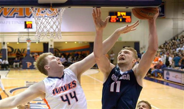 © Sabonis made all 12 of his free throws and Gonzaga made 21 of 23. - Mark J. Terrill/AP Photo