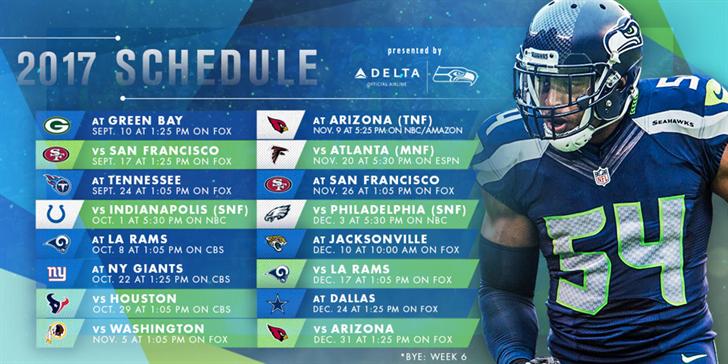 seattle seahawks release their 2017 schedule spokane north idaho