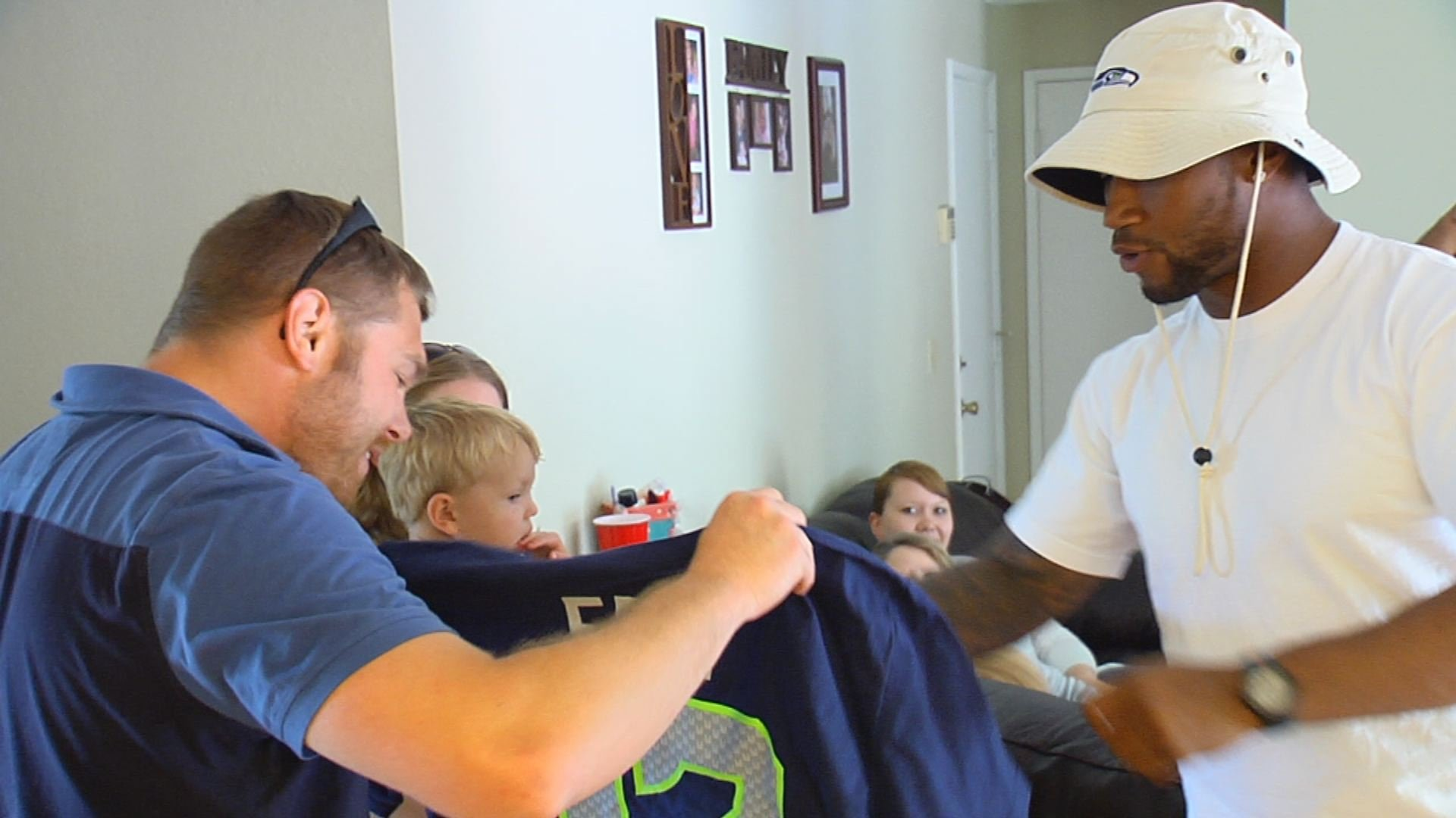 Seahawks Surprise a Purple Heart Recipient