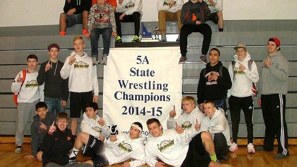 TEAMS VOLLEYBALL The Post Falls Trojans - 5A State Wrestling Champs!