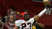 The Shock released Dahnel Signfield, who played for the NY Dragons in the AFL in 2006 (Photo: Spokane Shock / Daylife)